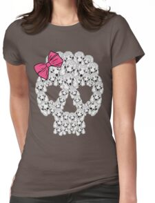 Poodle Sugar Skull Womens Fitted T-Shirt