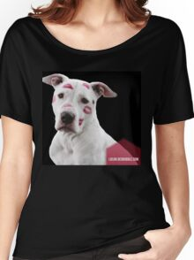 Pitbull Pink Kisses Women's Relaxed Fit T-Shirt