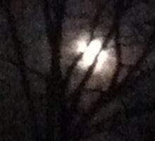 Spooky moon Sticker