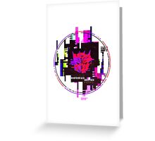 Double Badge Glitch (v.1) Greeting Card