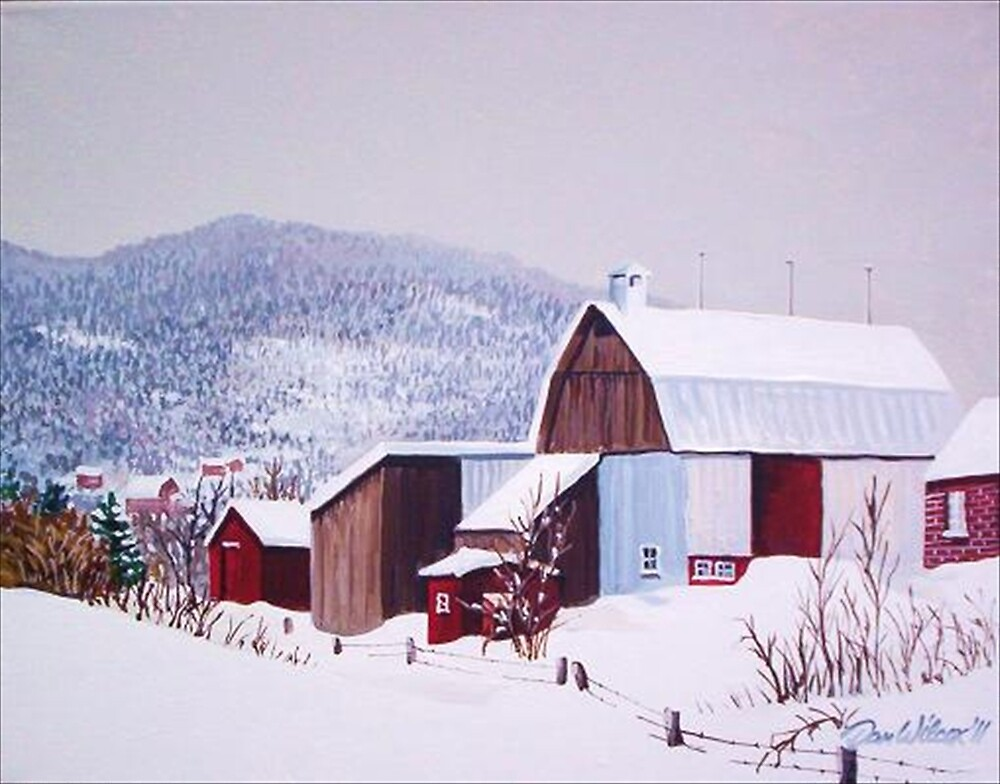 Barns in Winter by Dan Wilcox