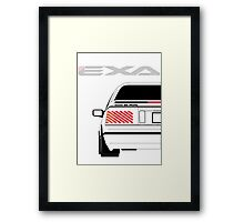 Nissan Exa Coupe - White Framed Print