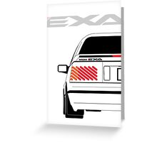 Nissan Exa Coupe - White Greeting Card