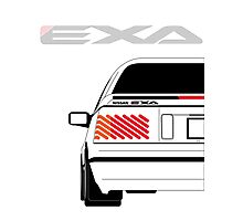 Nissan Exa Coupe - White Photographic Print