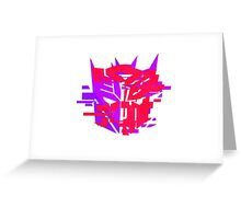 Double Badge Glitch (v.2) Greeting Card