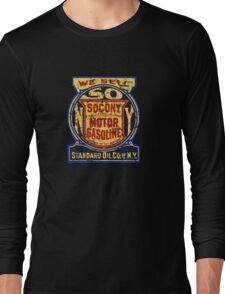 Socony Vintage oil and Gas USA Long Sleeve T-Shirt
