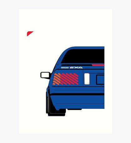 Nissan Exa Coupe - JAP Edition Blue Art Print