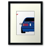 Nissan Exa Coupe - JAP Edition Blue Framed Print