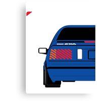Nissan Exa Coupe - JAP Edition Blue Canvas Print