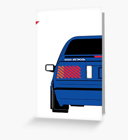 Nissan Exa Coupe - JAP Edition Blue Greeting Card