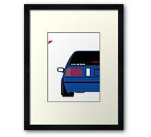 Nissan Exa Sportback - JAP Edition Blue Framed Print