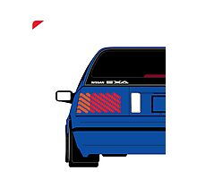 Nissan Exa Sportback - JAP Edition Blue Photographic Print