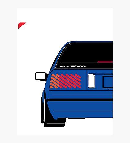 Nissan Exa Sportback - JAP Edition Blue Photographic Print