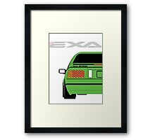 Nissan Exa Coupe - Green Framed Print