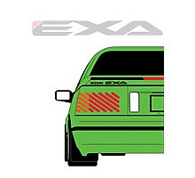 Nissan Exa Coupe - Green Photographic Print