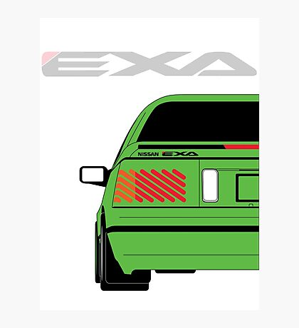 Nissan Exa Coupe - Green Photographic Print