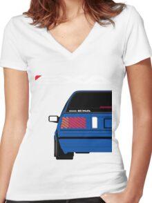 Nissan Exa Sportback - JAP Edition Blue Women's Fitted V-Neck T-Shirt