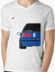 Nissan Exa Sportback - JAP Edition Blue Mens V-Neck T-Shirt