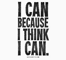 I Think I Can Black Text T-shirts & Homewares Womens Fitted T-Shirt