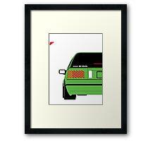 Nissan Exa Sportback - Greeb Framed Print