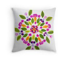 Gaia Gives Kaleidoscope Mandala  Throw Pillow