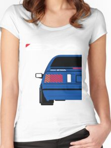 Nissan Exa Coupe - JAP Edition Blue Women's Fitted Scoop T-Shirt