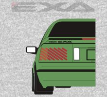 Nissan Exa Coupe - Green One Piece - Long Sleeve
