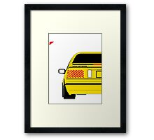 Nissan Exa Coupe - Yellow Framed Print
