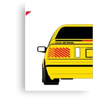 Nissan Exa Coupe - Yellow Canvas Print