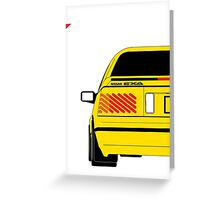 Nissan Exa Coupe - Yellow Greeting Card