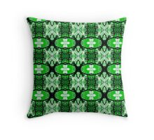 Tree Silhouette Green (VN.141) Throw Pillow