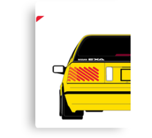 Nissan Exa Sportback - Yellow Canvas Print