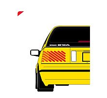 Nissan Exa Sportback - Yellow Photographic Print