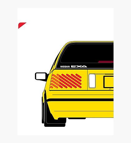 Nissan Exa Sportback - Yellow Photographic Print