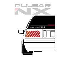 Nissan NX Pulsar Sportback - White Photographic Print