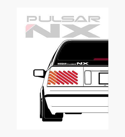 Nissan NX Pulsar Sportback - White Photographic Print