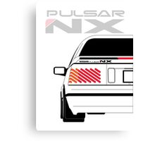 Nissan NX Pulsar Coupe - White Canvas Print