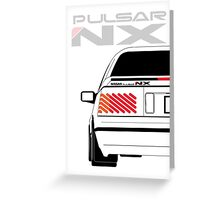 Nissan NX Pulsar Coupe - White Greeting Card