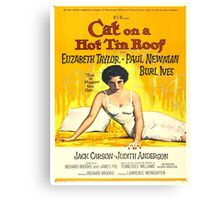 Vintage poster - Cat on a Hot Tin Roof Canvas Print