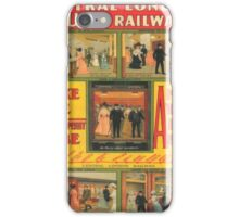 Vintage poster - Central London Railway iPhone Case/Skin