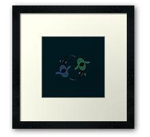 yin and yang Dunkleoteus Framed Print
