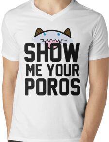 Show Me Your Poros Mens V-Neck T-Shirt