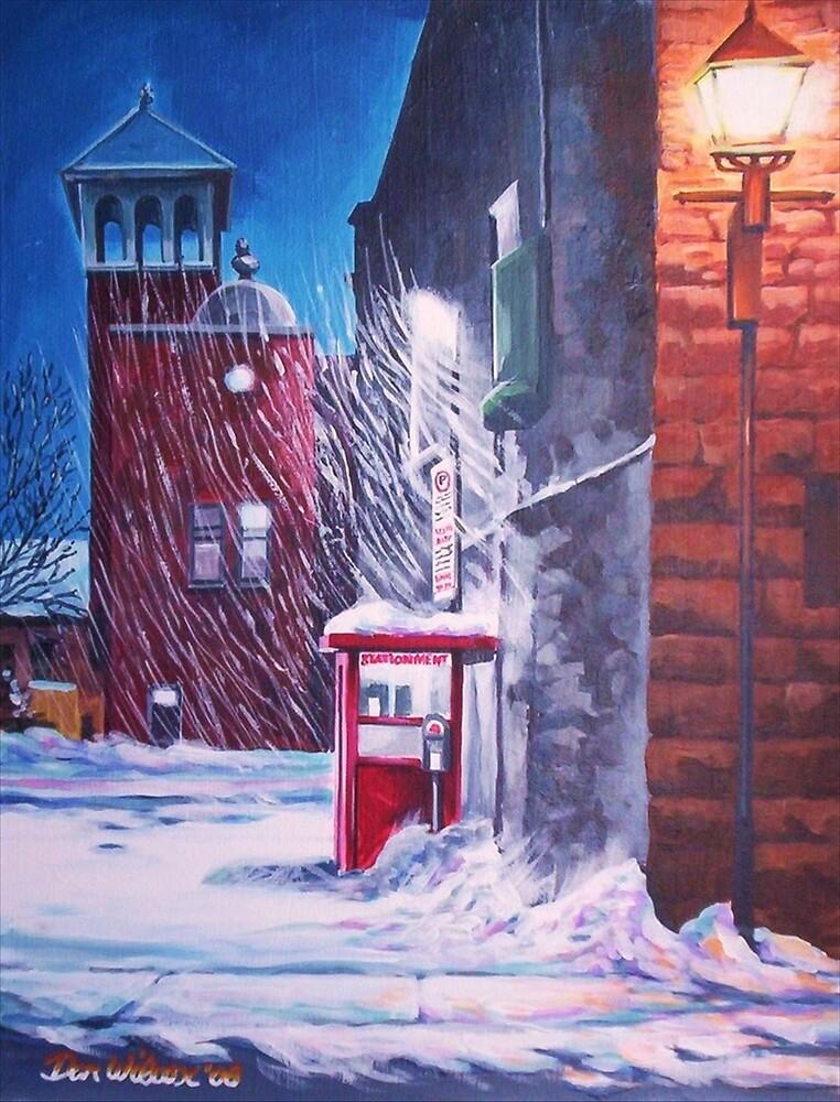 Parkinglot in Snowstorm by Dan Wilcox