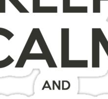 NodeJS Keep Calm and Node On Sticker