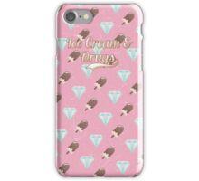 Retro Ice Cream & Drugs Pattern (Pink) iPhone Case/Skin