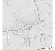 Pécs, Hungary Map. (Black on white) Photographic Print