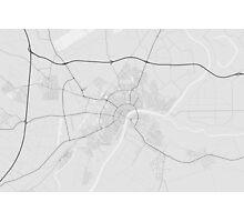 Szeged, Hungary Map. (Black on white) Photographic Print