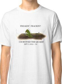 Did the Earth Move?  You may have felt the big one!  Oklahoma Earthquake Art by Gillian Brandon Classic T-Shirt