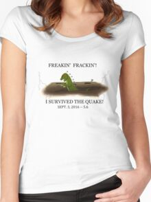 Did the Earth Move?  You may have felt the big one!  Oklahoma Earthquake Art by Gillian Brandon Women's Fitted Scoop T-Shirt