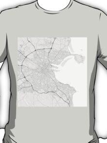 Dublin, Ireland Map. (Black on white) T-Shirt